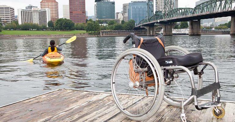 Kayaking by the bridge